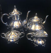 Eugen Ferner Germany Hand Chased Sterling Silver Tea And Coffee Set
