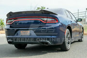 Fit 15-up Dodge Charger Extended Srt Style Rear Trunk Wing Wickerbill Spoiler