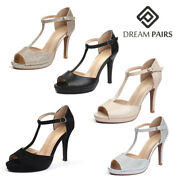Dream Pairs Womenand039s Ankle Strap High Heel Sandals Stilettos Open Toe Pump Shoes