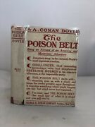 The Poison Belt Conan Doyle Us 1st 1913 Unrestored First Issue D/w Rare