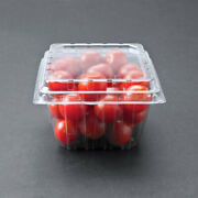 1 Pint 5and039x4 3/8and039 Clear Square Vented Clamshell Produce/berry Container -480/case
