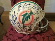 1972 Miami Dolphins Authentic Riddell Autographed Full Size Throwback Helmet
