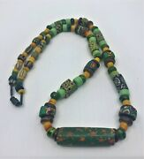 Handmade Casual Trader Necklace Antique Venetian Beads Mexican By Ellie Martin
