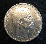 1915a Serbia Dinar Paris Km 25.3 Silver Coin Alignment Nice Xf Lusters