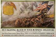 Wwi And Ww Ii War Poster Originals -put Fighting Blood In Your Business