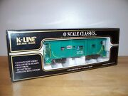 K-line Train K612-1751 New York Central O Scale Classic Bay Window Caboose