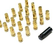 1320 Performance 24k Gold Chrome Steel Jdm Lug Nuts 12x1.5 Close Ended 24 Pcs