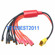 Xt60 To 3.5mm Bullet Plug 1 To 6 Wire Esc Power Breakout Cable For Hexacopter S