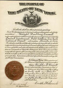 Franklin D. Roosevelt - Military Appointment Signed 12/26/1929 With Co-signers