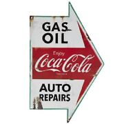 Vintage Style Coca Cola Gas Station Signs Man Cave Garage Decor Oil Can