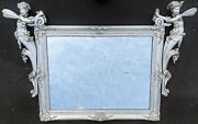 Museum Antique French 19th C Carved And Silver Gilt Wood Fantasy Fairy Fae Mirror