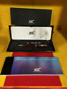 Mont Blanc Bordeaux Le Grand 161r Ballpoint Pen With All Papers