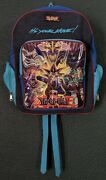 Vtg Yu-gi-oh Backpack Rare Card Deck Pockets Blue It's Your Move Collectible 90s