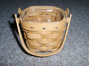 Longaberger Host Only 2017 Itty Bitty Booking Basket Set In Warm Brown. New