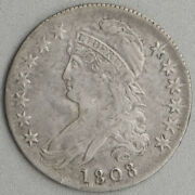 1808 Capped Bust Half Dollar Circulated Xf Patina Old Us Mint Silver Coin Scarce