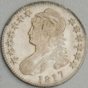 1817 Capped Bust Half Dollar Au Old Toned Solid Us Mint 50 Cent Silver Coin Rare