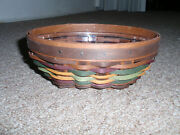 Longaberger Host Only 2013 Autumn Roads Oval Booking Basket With Protector, New
