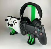 Universal Controller And Headphone Stand Holds 2 Controllers Ps4 And Xbox One