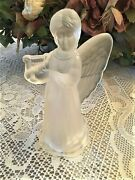 An Adorable Frosted Glass Angel Christmas Tree Topper