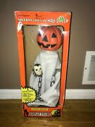 Ghost Motionettes Halloween Animated Illuminated Figure Telco With Box Works