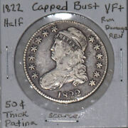 1822 Capped Bust Half Dollar Vf Detail Old Tone Us Mint 50 Cent Silver Coin Rare