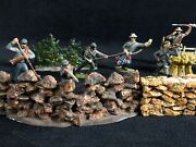 Antique Lead Hand Painted Civil War Confederate Army Toy Figures Battle Scene 16