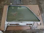 1961 1962 1963 Lincoln Continental Sedan Lh Dr Rear Door Glass Window And Frame