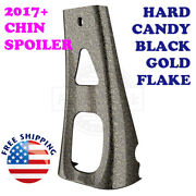 Hard Candy Black Gold Flake Abs Chin Spoiler For 2017+ Air-cooled Harley Touring
