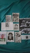 Vintage Signed Autographed Football Players Cards Nfl Memorabilia Photos