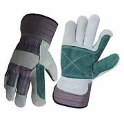 Wolf Leather Work Gloves Double Palm Glove Genuine Cowhide Heavy-duty Shoulder