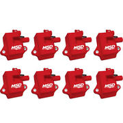 Msd Ignition Coil 82858 Multiple Spark Coil Red 44,000 Volts For Chevy Ls1, Ls6
