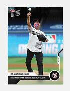 2020 Dr. Anthony Fauci Mlb Topps Now Card 2 First Pitch Sold Out Nationals Wow