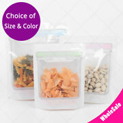 Multi Sizes Glossy Mylar Food Canister Tupperware Stand Up Zip Lock Bag