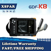 Gdf-k8 Veterinary Ultrasound Scanner 7and039and039 Lcd Screen For Large Animals Cow Horse