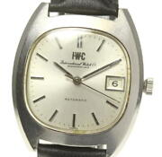 Schaffhausen Antique Date Cal.8541b Automatic Date Ss Leather Menand039s Watch