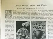 Chinese Puzzles Magic Tricks Animal Birds Traps Rare Old Victorian Article 1900
