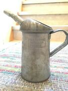 Vintage Two Quart Motor Oil Can With Spout