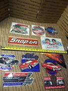 New Vintage Snap-on Tools Lot Of 11 Tool Box Stickers Decals Man Cave Bumper