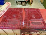1960 And039s 70 And039s Vintage Fancy Unique Harte And Co. Vinyl Front Floor Mat Red Black
