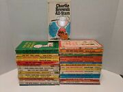 Lot Of 37 Vintage Peanuts Charlie Brown By Charles M. Schulz/fawcett Crest Books