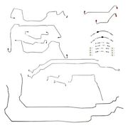For Pontiac Gto 04-06 Fine Lines Stainless Steel Complete Brake Line And Hose Kit