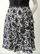 G2 By George Gross Ruffled Silk Skirt New Rrp 349.00 Size 8 Us 4