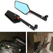 Cnc Handlebar Rearview Mirrors Fit For Yamaha Mt-07 Fz-07 Mt-07 Moto Cage Xsr700