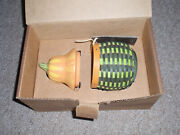 Longaberger 2011 Collectors Club Gourd Basket Set W/pottery Lid And Protector, New