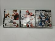 Madden Nfl 13, Ncaa Football 09 And 10 Lot Of 3 Ps3 Games, Free Ship