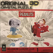 Original 3d Crystal Peanuts Puzzle New In Box Flying Ace And Astronaut Snoopy