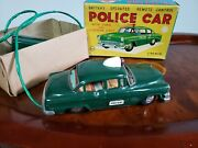 Linemar Tin Police Car Mar Japan In Box Linemar Tin Toy Lot Battery Operated Tin