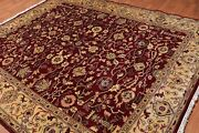 8' X 9'7 Hand Knotted 100 Wool Traditional Oriental Area Rug Traditional Wine