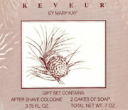 Vintage Reveur By Mary Kay After Shave Cologne 3.75oz And 2 Cakes Of Soap 7oz