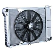 For Chevy Nova 69-72 Dewitts Direct Fit Pro-series Aluminum Radiator W Fan